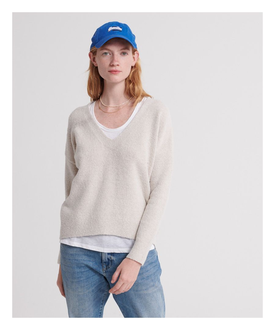 Image for Superdry Isabella Slouch V-Neck Knitted Jumper