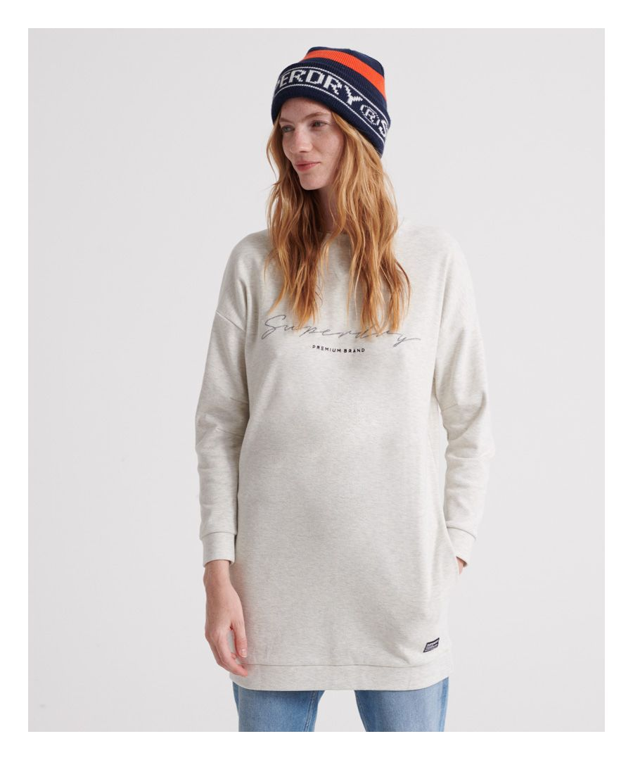 Image for Superdry V-Crew Graphic Sweat Dress