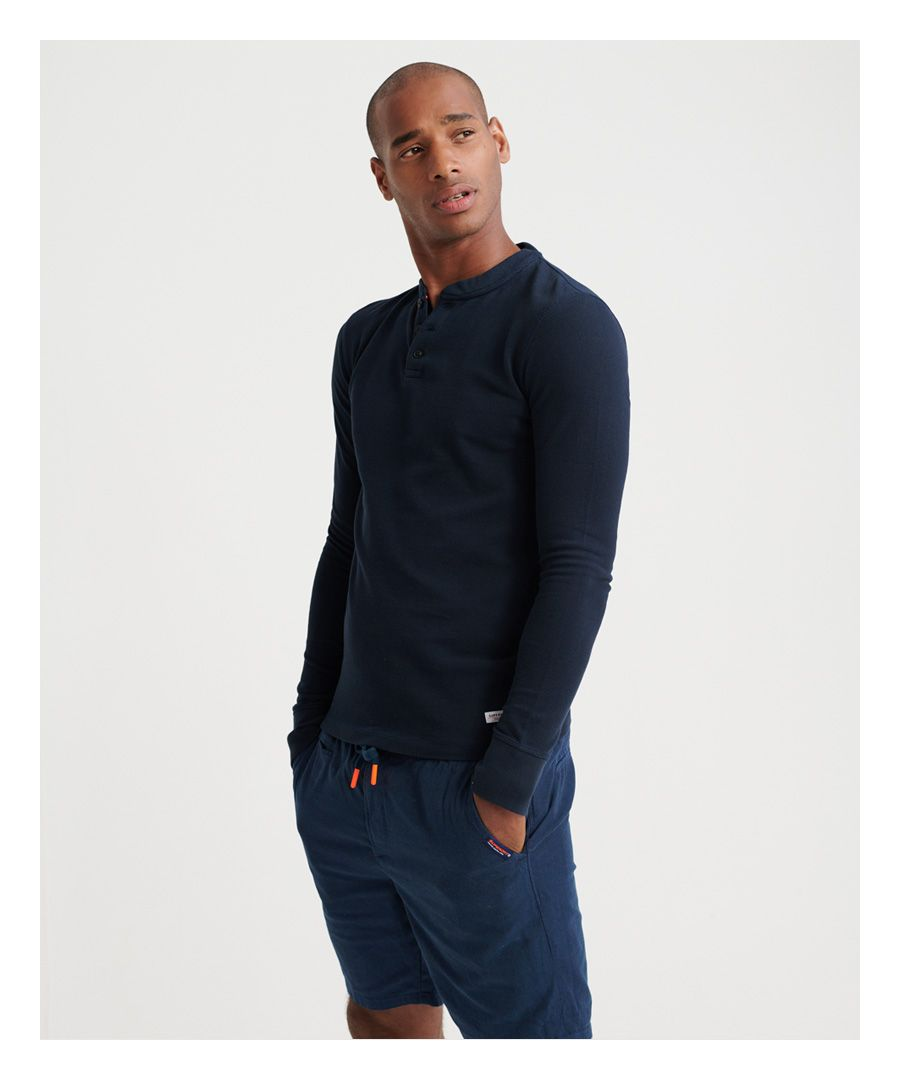 Image for Superdry Edit Long Sleeved Henley Top