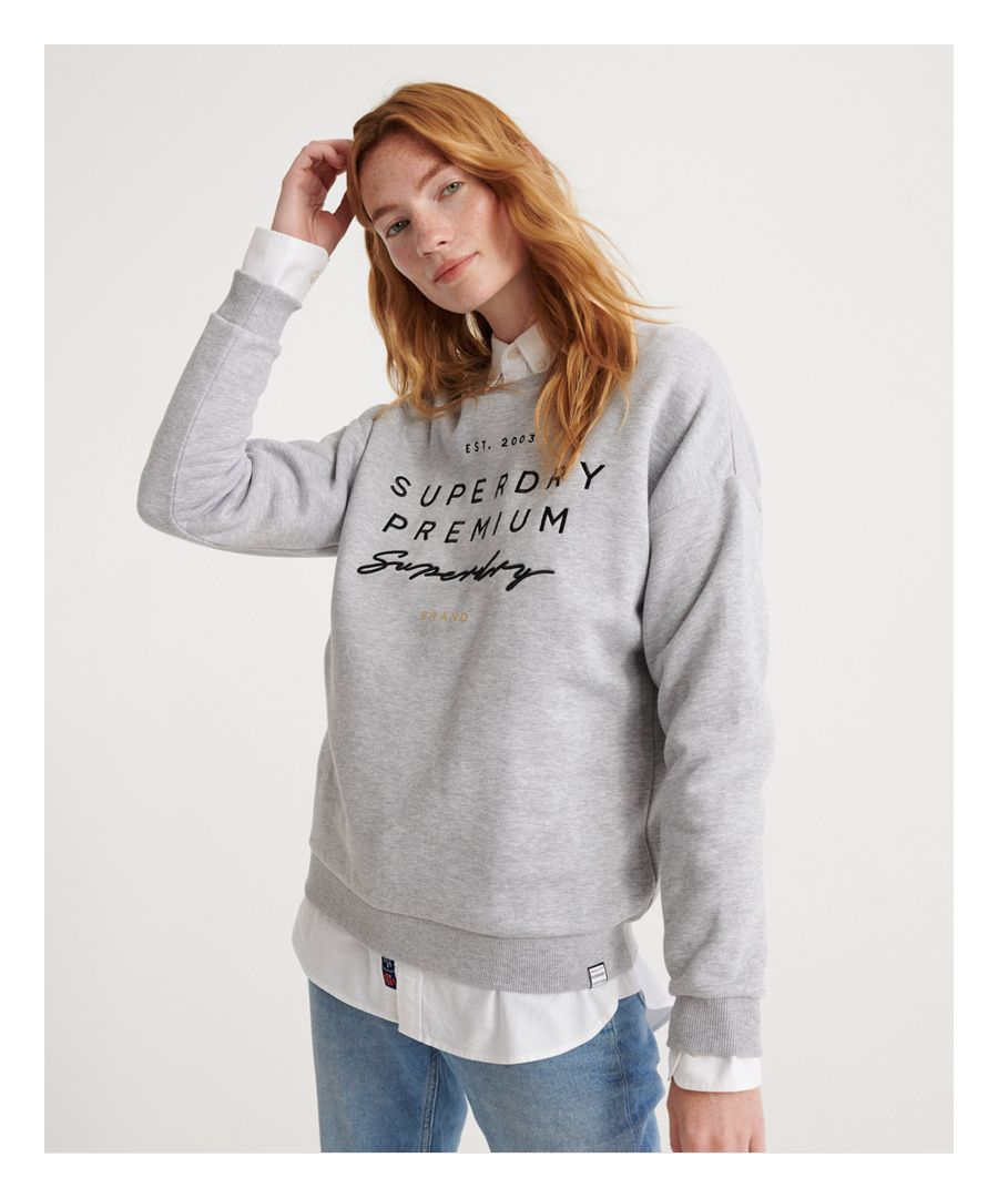 Image for Superdry Applique Crew Sweatshirt