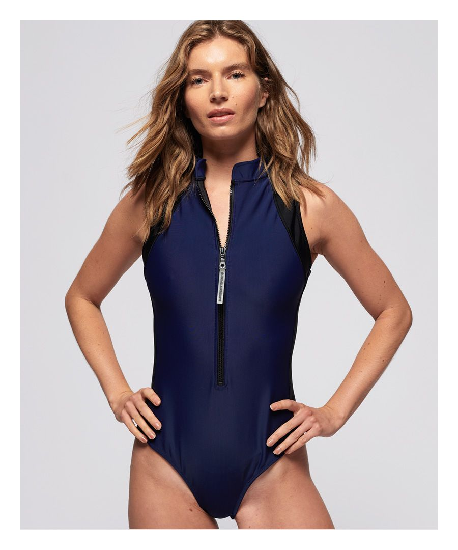 Image for Superdry Aqua Sport Hi Collar Swimsuit