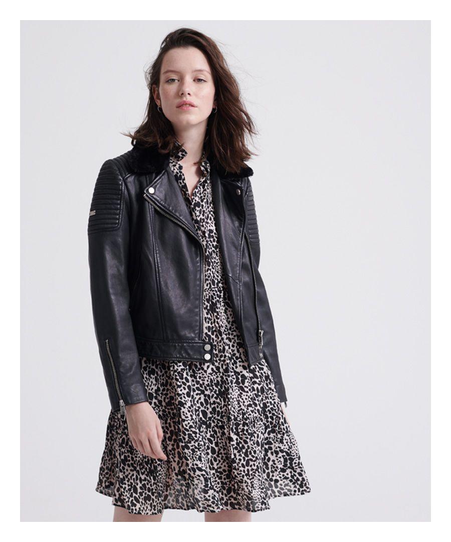 Image for Superdry Premium Leather Biker Jacket