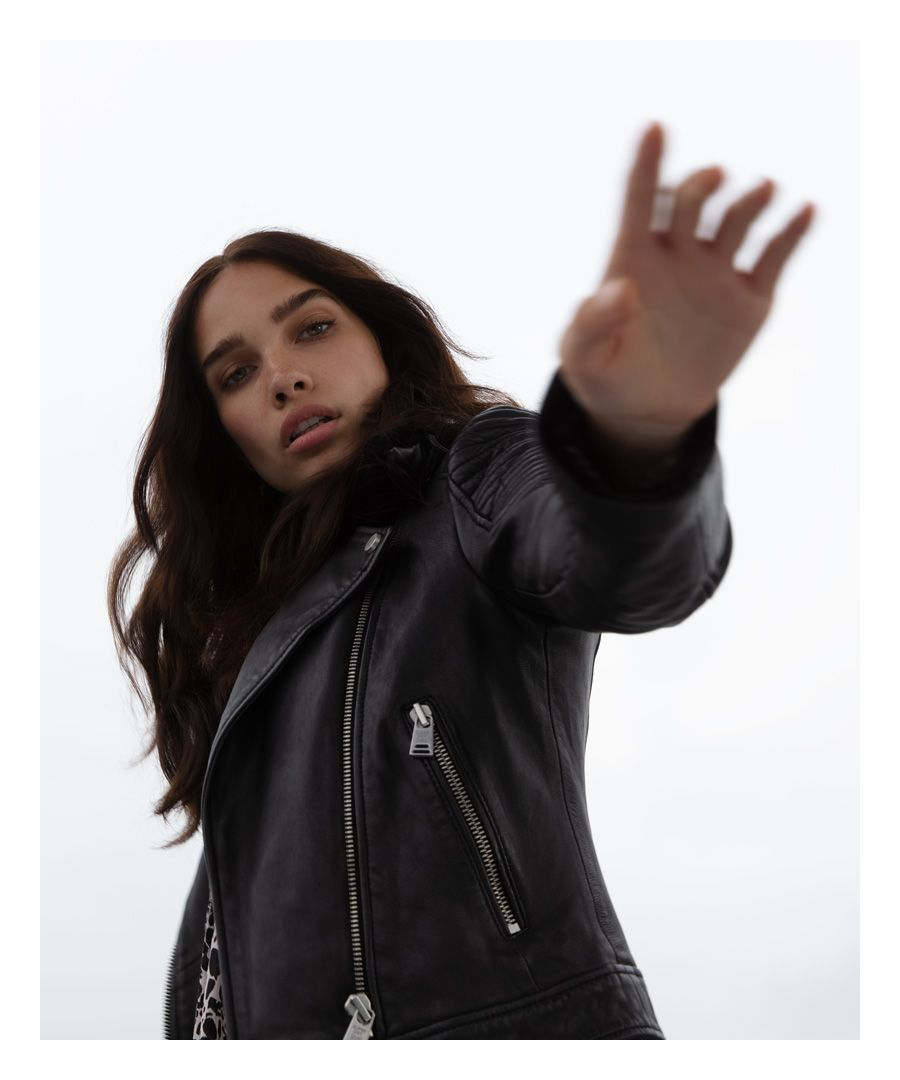 Image for Superdry Premium Leather Biker Jacket