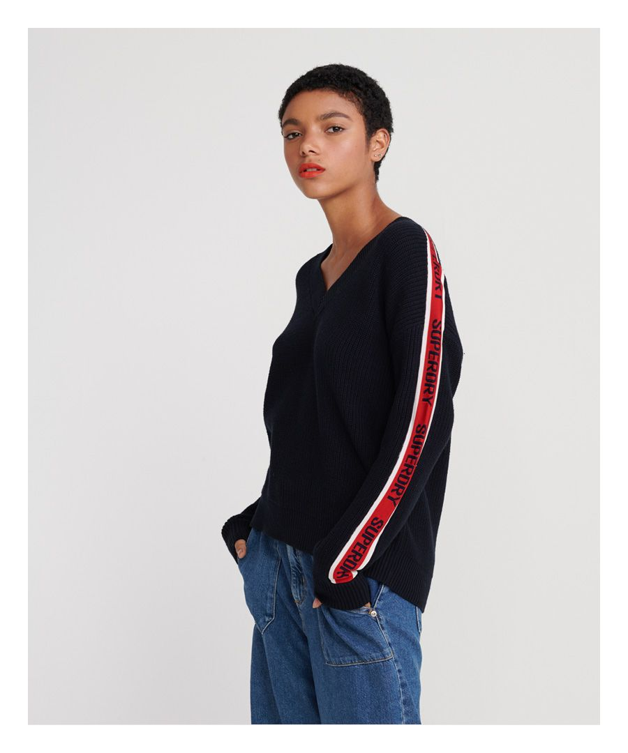 Image for Superdry Sporty Taped V-Neck Sweater