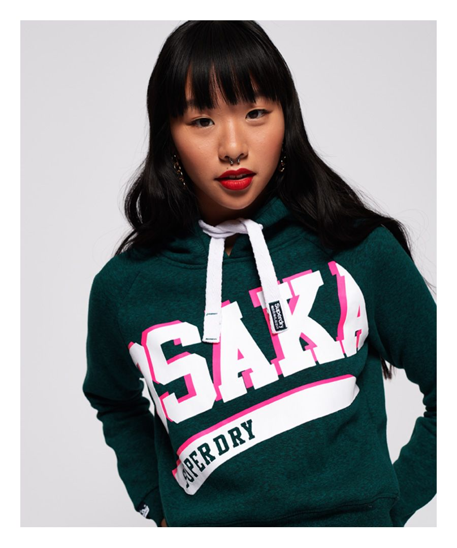Image for Superdry Osaka Swoosh Sport Crop Hoodie