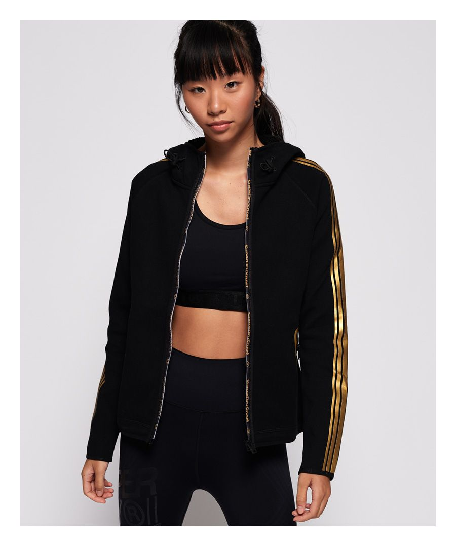Image for Superdry Gym Tech Gold Zip Hoodie