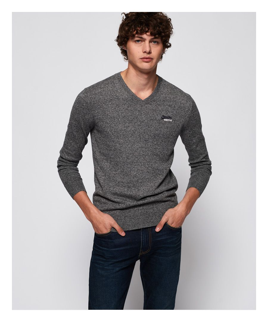 Image for Superdry Orange Label V-Neck Jumper