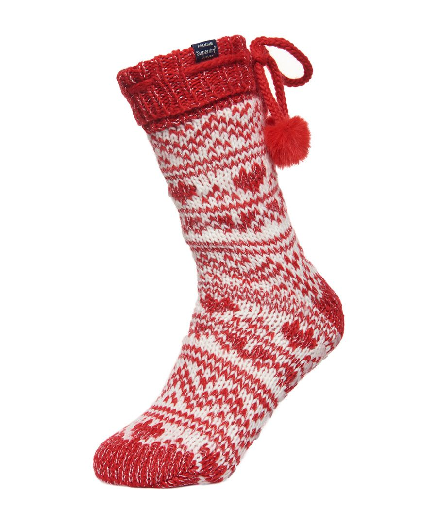 Image for Superdry Heart Fairisle Slipper Socks