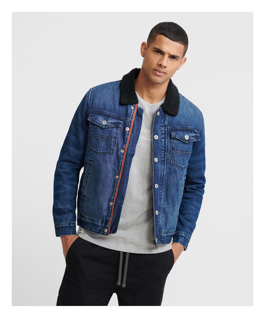Image for Superdry Hacienda Sherpa Denim Jacket