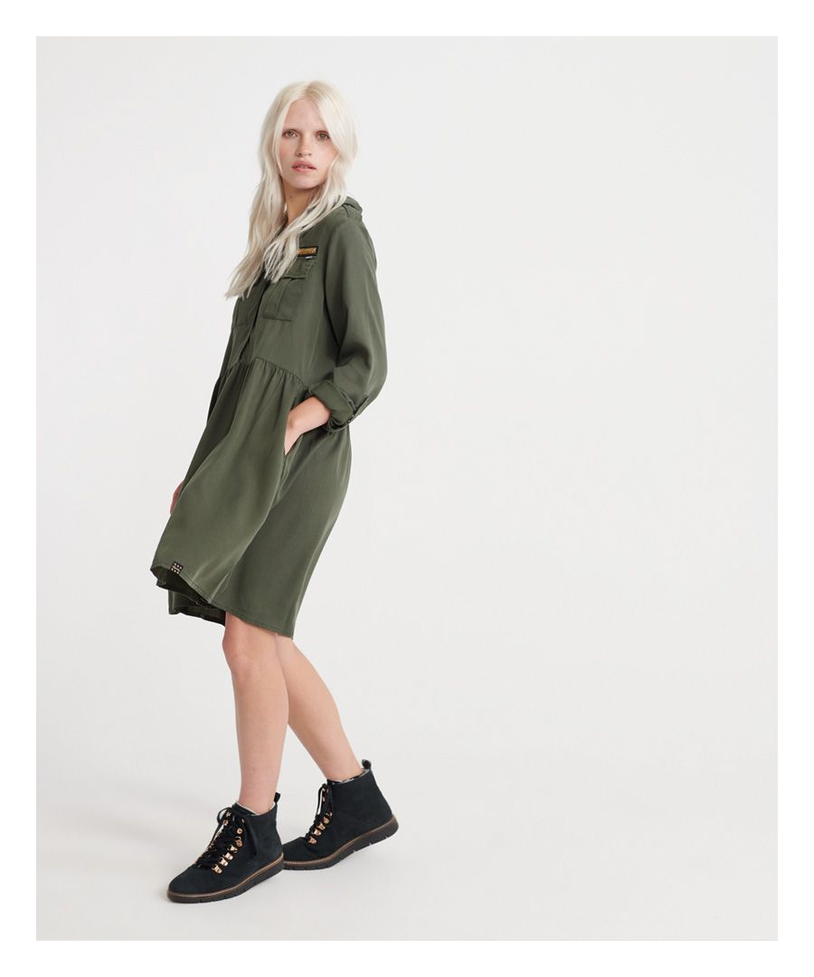 Image for Superdry Military Shirt Dress