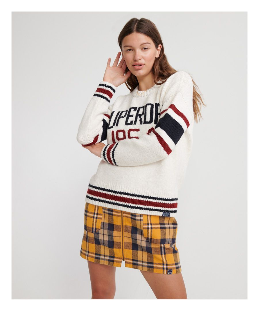 Image for Superdry Intarsia Slouch Knit Jumper