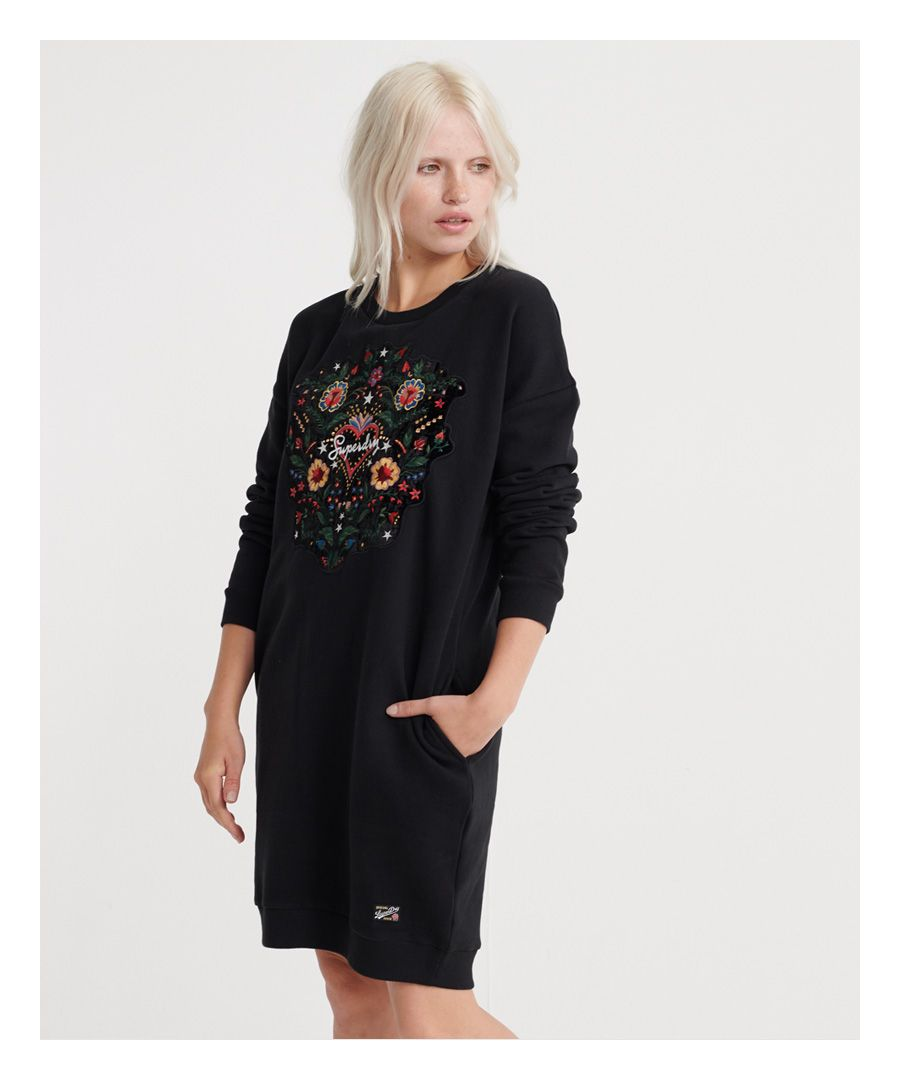 Image for Superdry Embellished Rodeo Sweat Dress