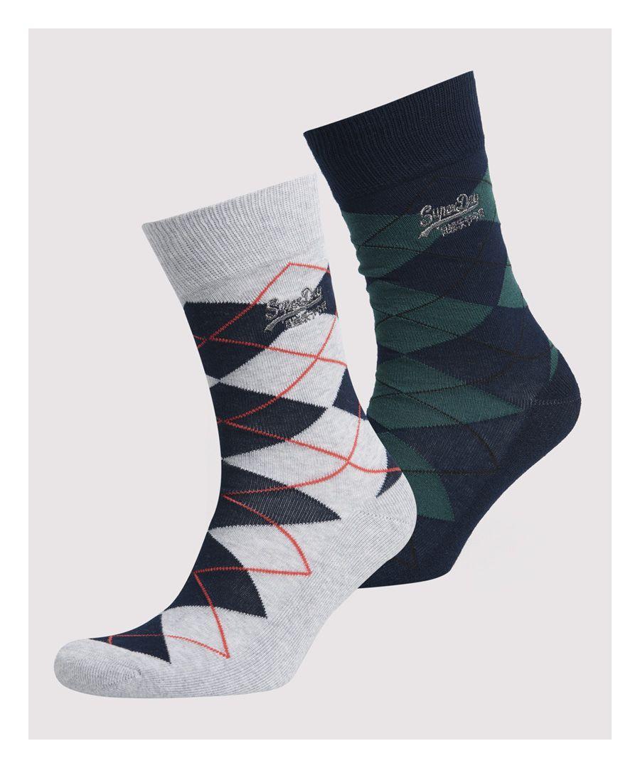 Image for Superdry Preppy Argyle Socks