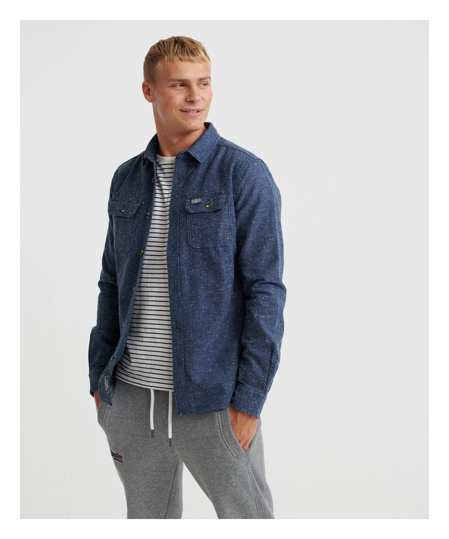 Image for Superdry Indigo Nep Lumberjack Shirt