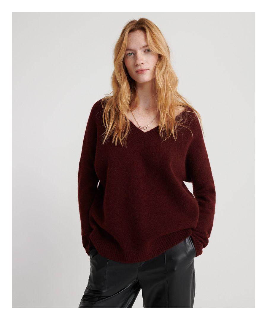 Image for Superdry Edit Eva V-Neck Knitted Jumper