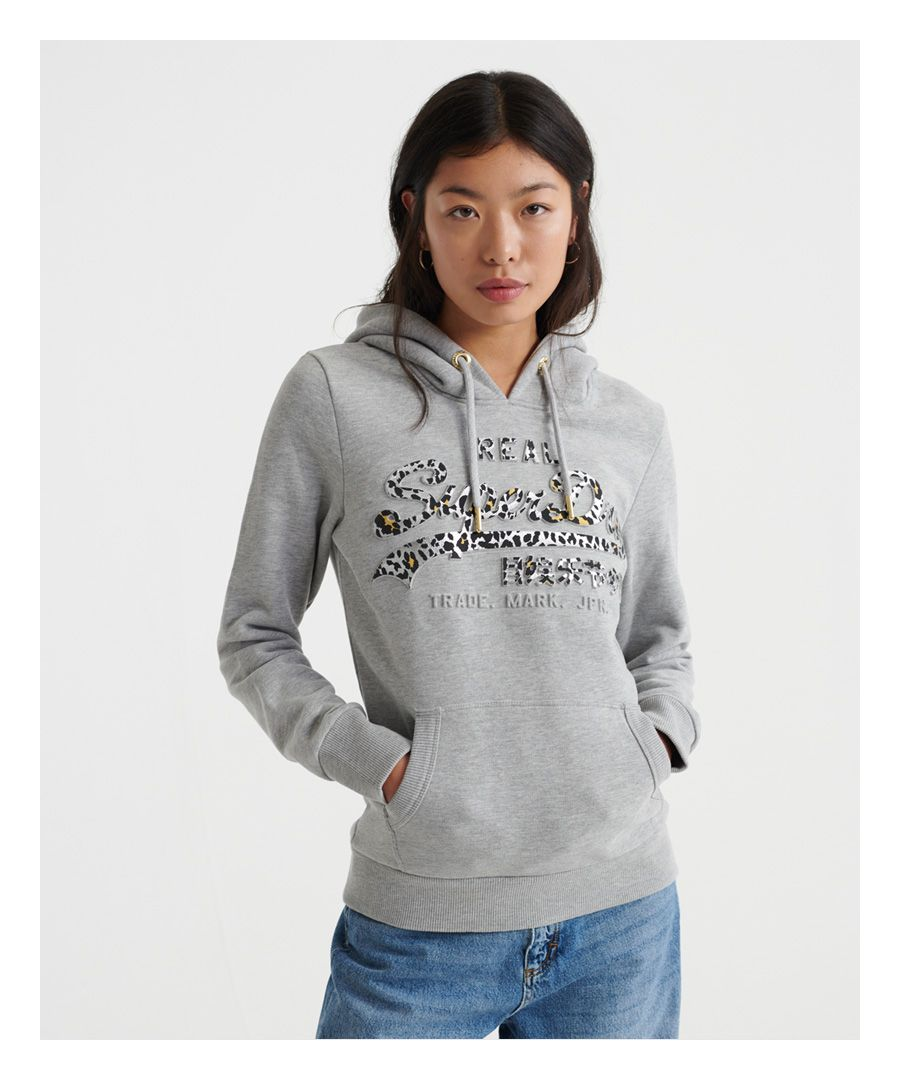 Image for Superdry Vintage Logo Animal Emboss Infill Hoodie