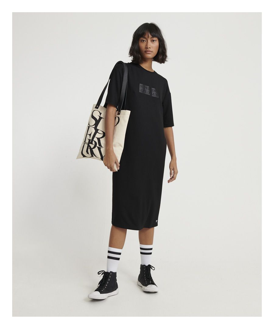 Image for Superdry Edit Midi T-shirt Dress