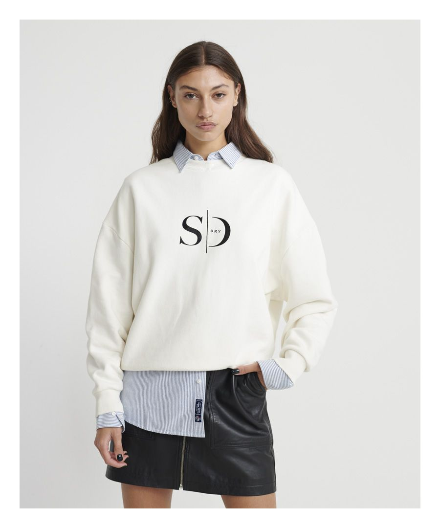 Image for Superdry Edit Slouchy Crew Neck  lightweight Sweatshirt