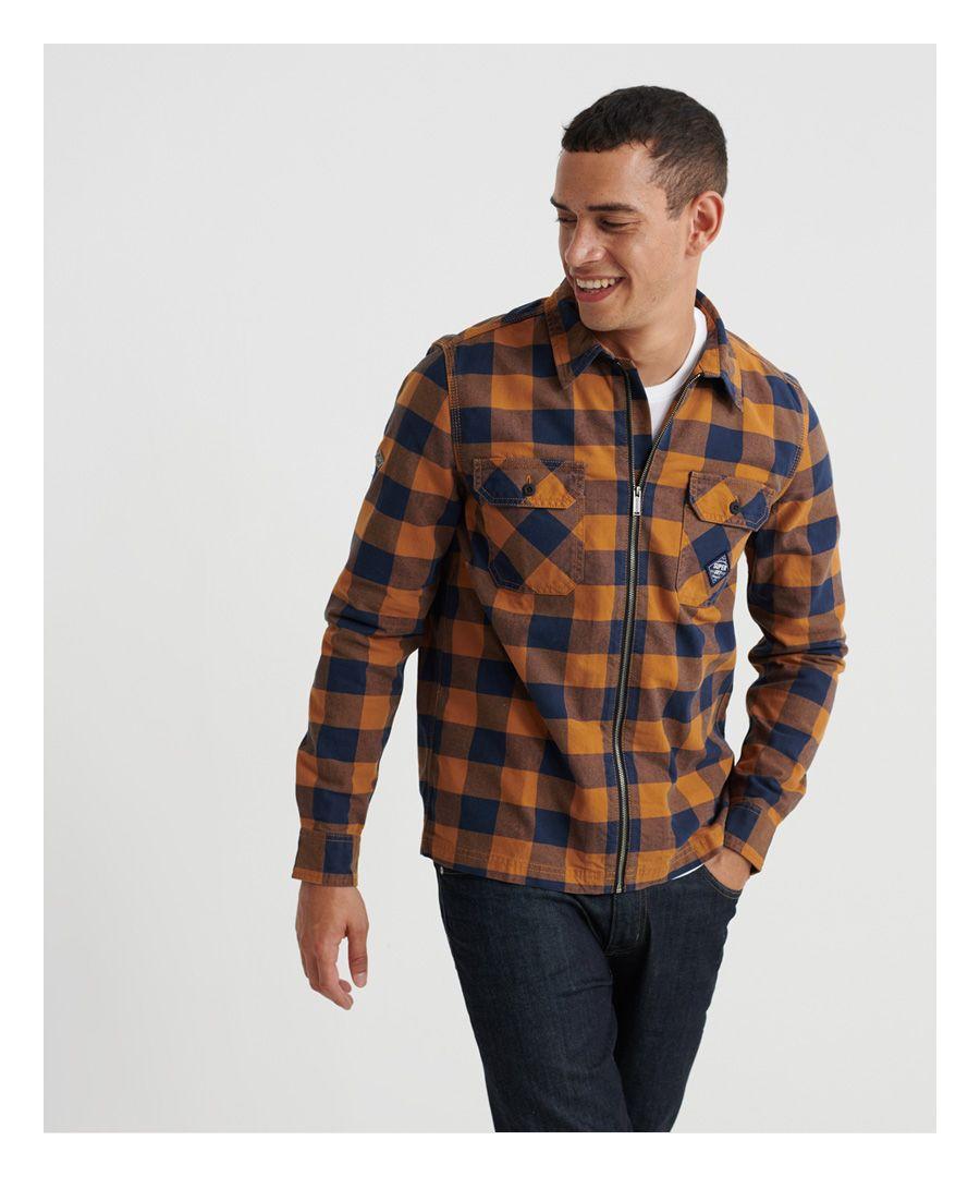 Image for Superdry Workwear Zip Through Shirt
