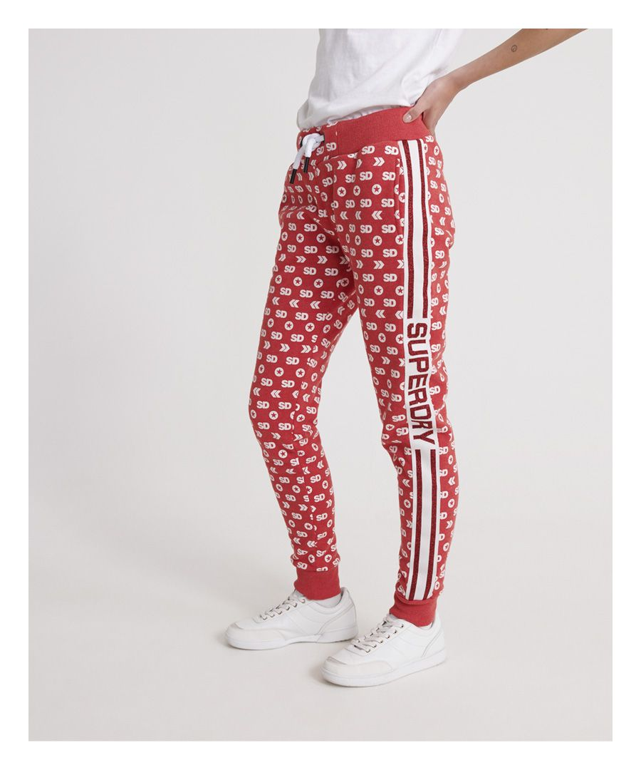 Image for Superdry Modern Coral Label Monogram Sport Joggers
