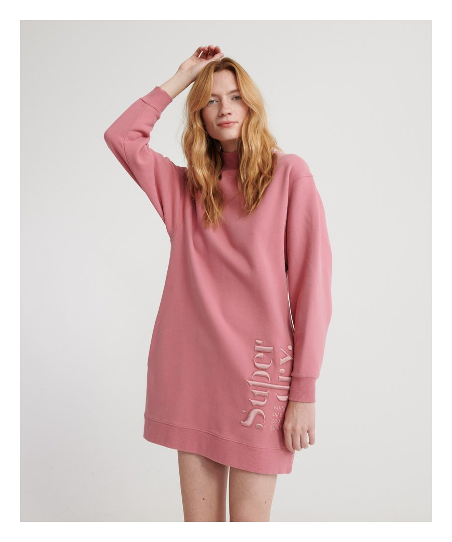 Image for Superdry Scandi High Neck Sweatshirt Dress