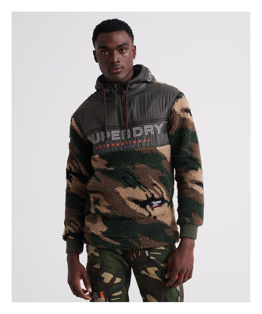 Image for Superdry Sherpa Worldwide Stealth Half Zip Hoodie