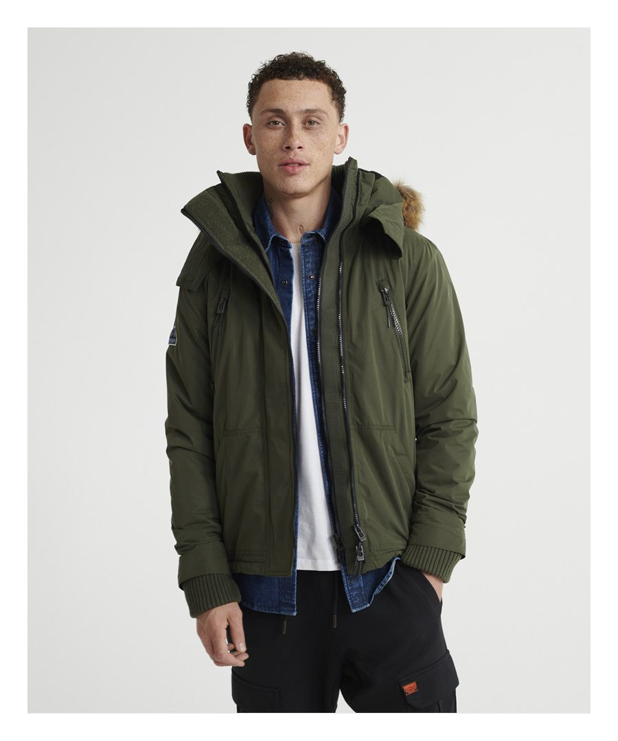 Image for Superdry Microfibre Faux Fur Hooded SD-Windattacker Jacket