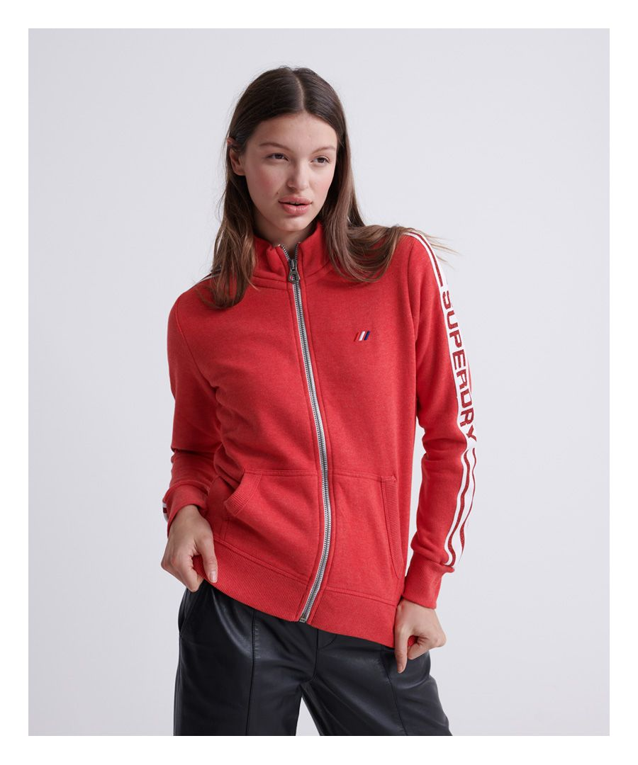 Image for Superdry Modern Coral Label Funnel Track Top