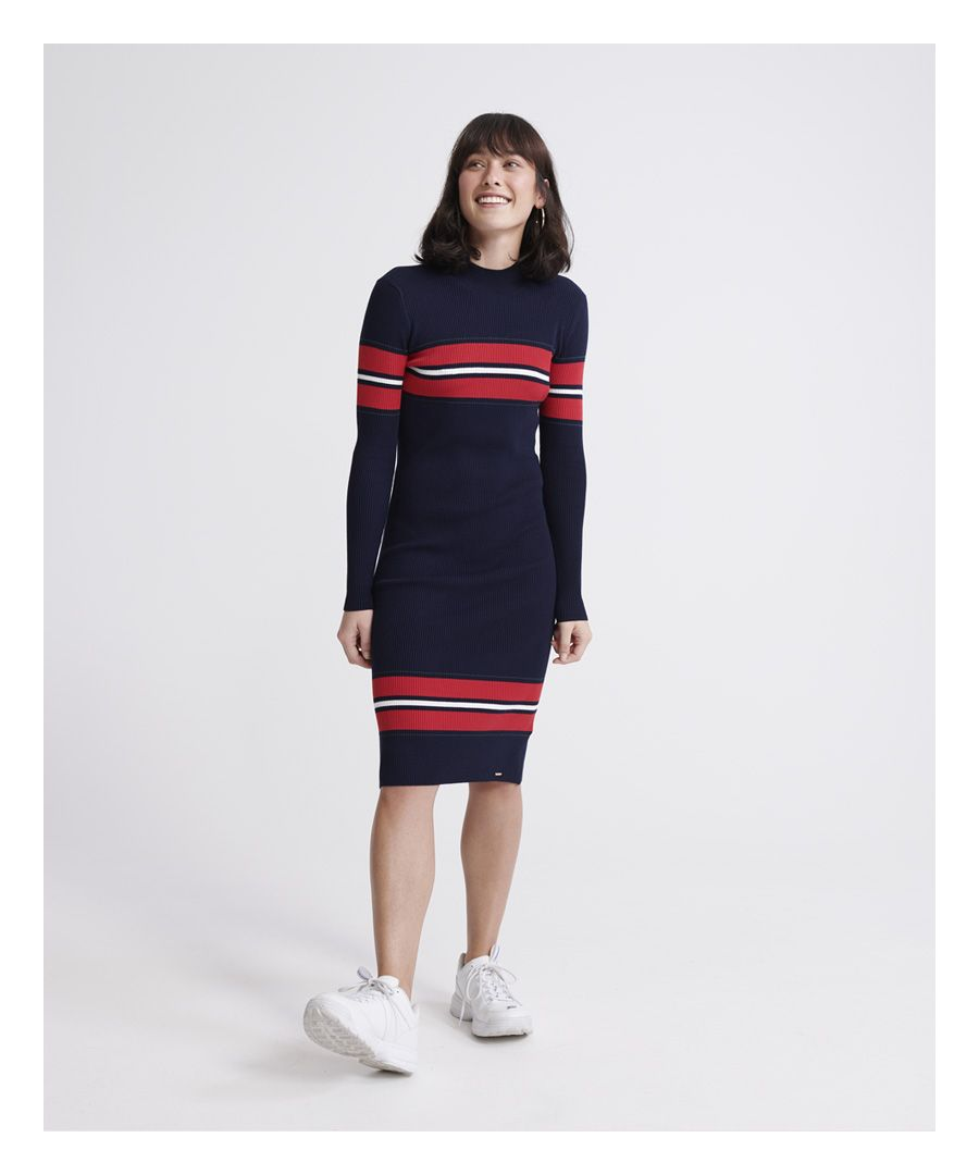 Image for Superdry Hallie Ribbed Bodycon Dress