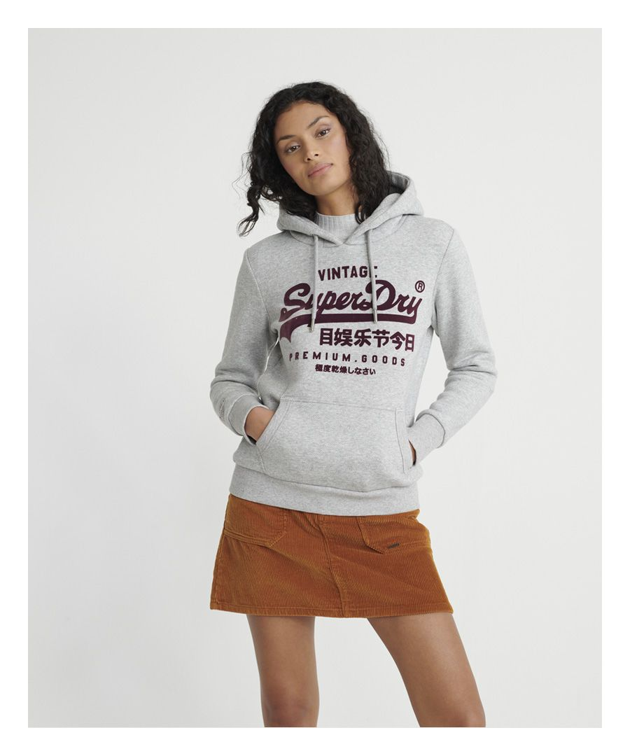 Image for Superdry Premium Goods Herringbone Hoodie