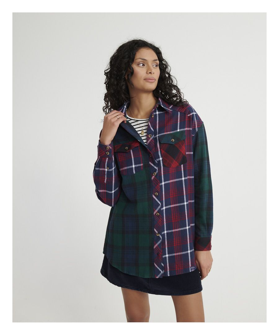 Image for Superdry Bailee Mixed Check Shirt