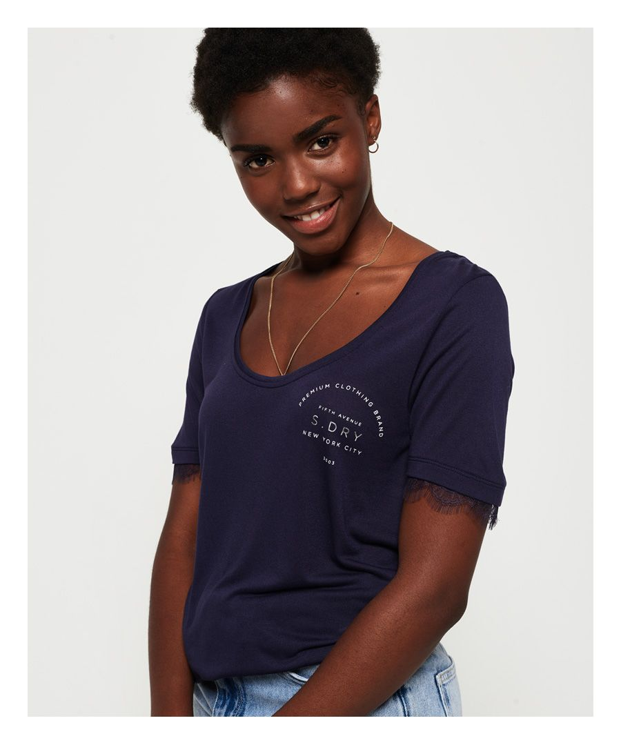 Image for Superdry Eyelash Lace Graphic T-Shirt