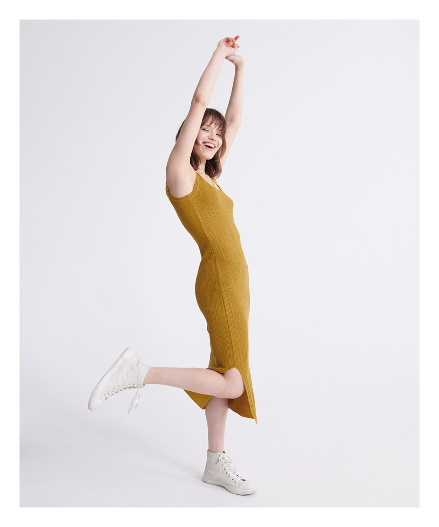 Image for Superdry Sahara Knit Midi Split Dress