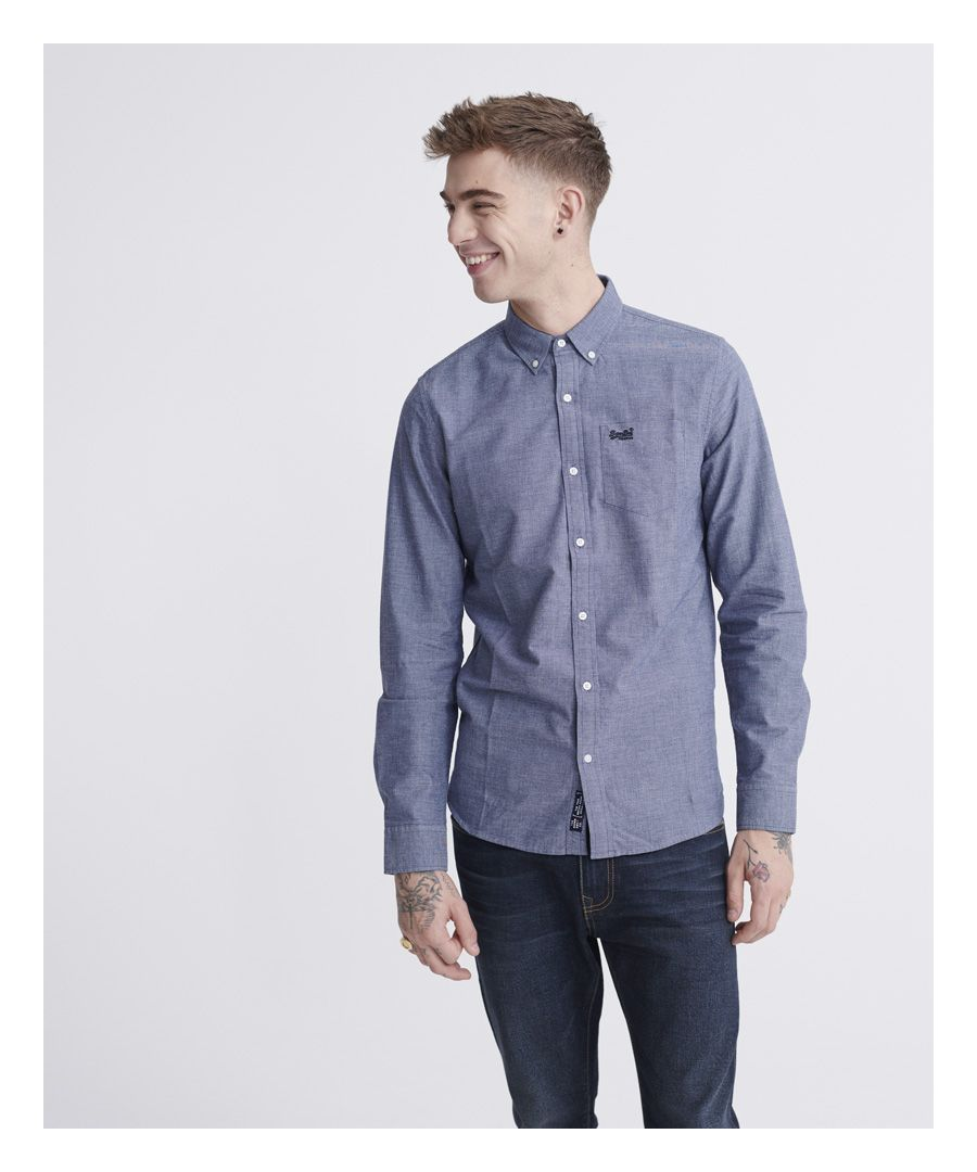 Image for Superdry Classic University Oxford Long Sleeve Shirt