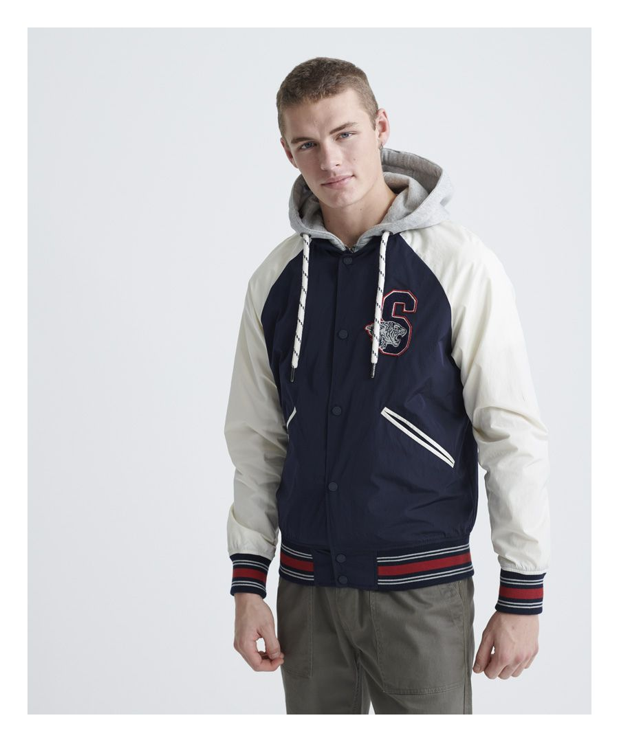 Image for Superdry Hooded Collegiate Bomber Jacket