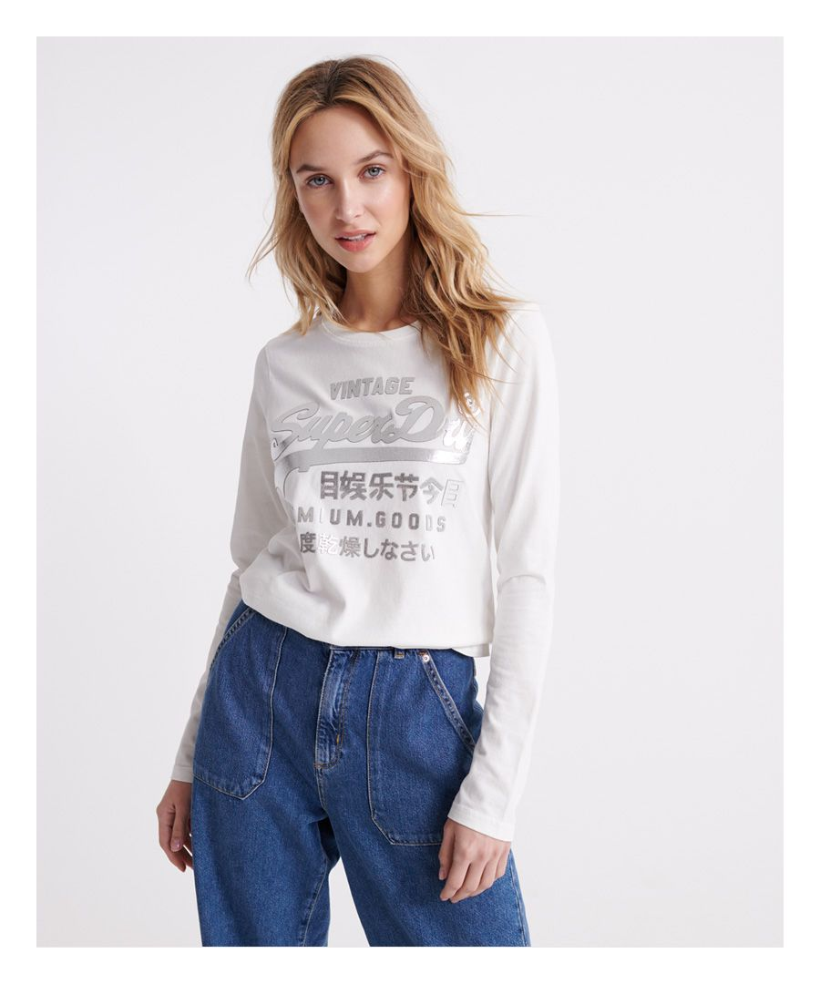 Image for Superdry Premium Goods Metallic Long Sleeved Top