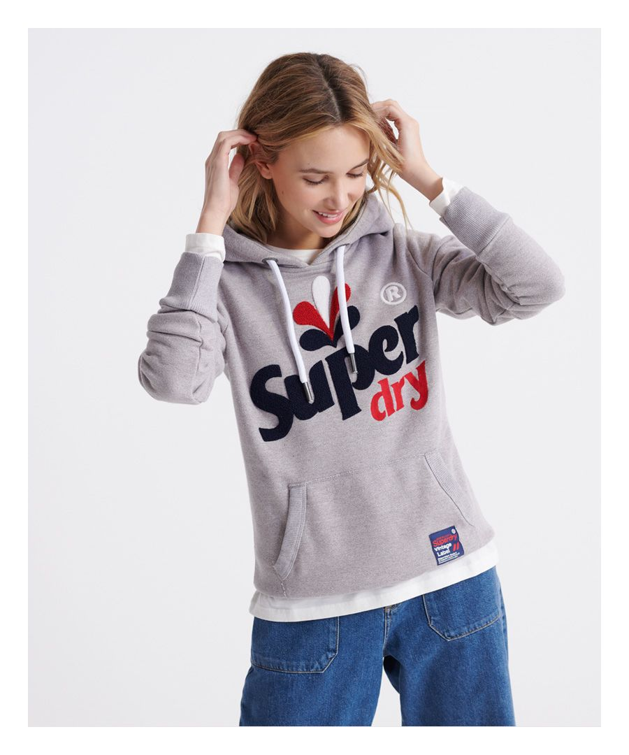 Image for Superdry Embroidered Classic Leaf Hoodie