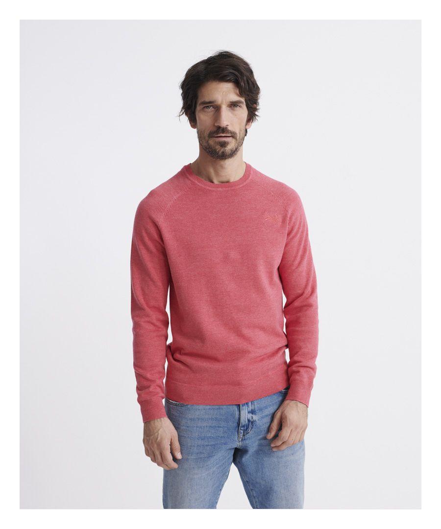 Image for Superdry Orange Label Cotton Jumper