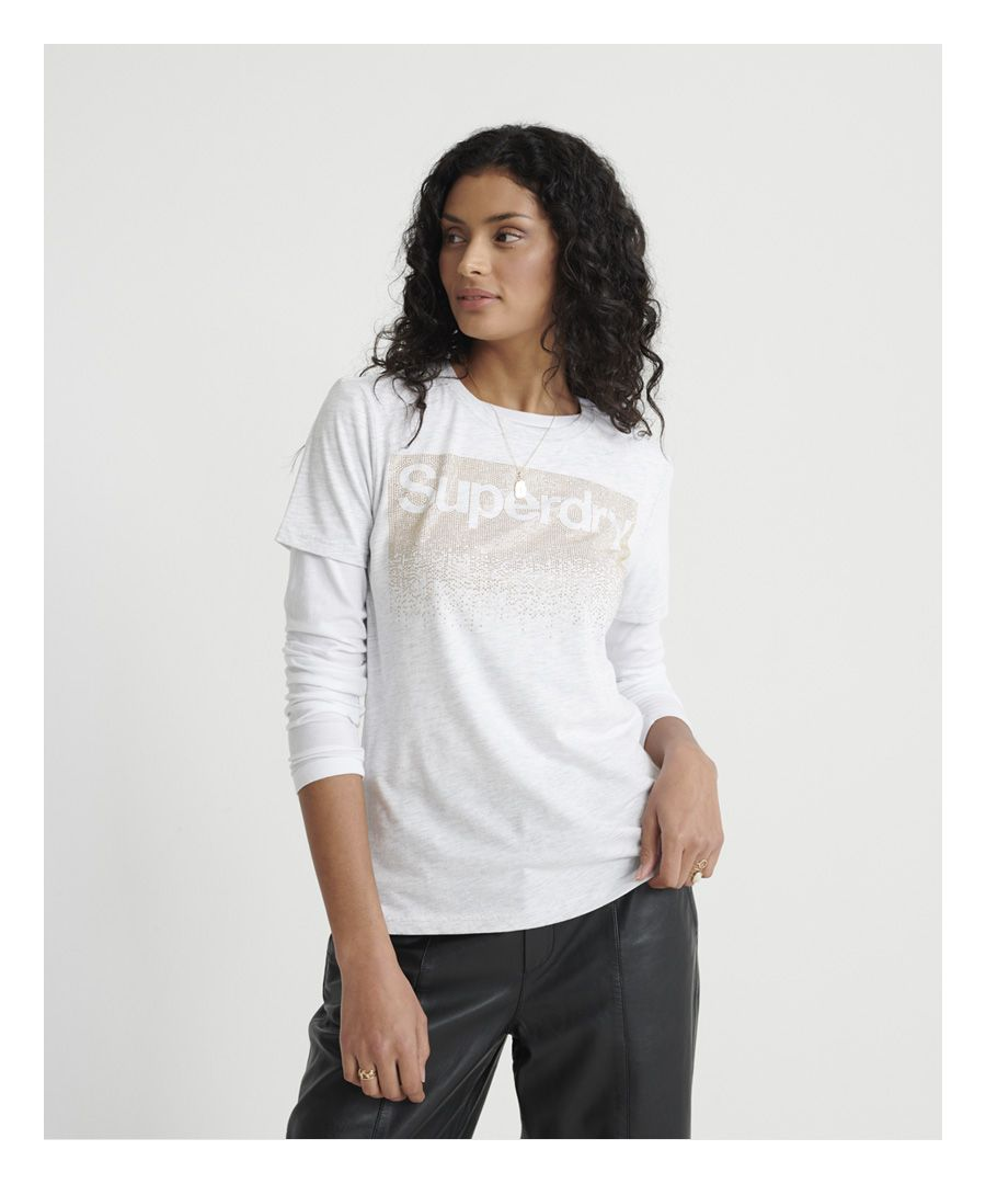 Image for Superdry Swiss Logo Cascade T-Shirt
