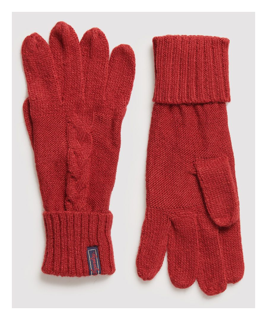 Image for Superdry Lannah Cable Gloves