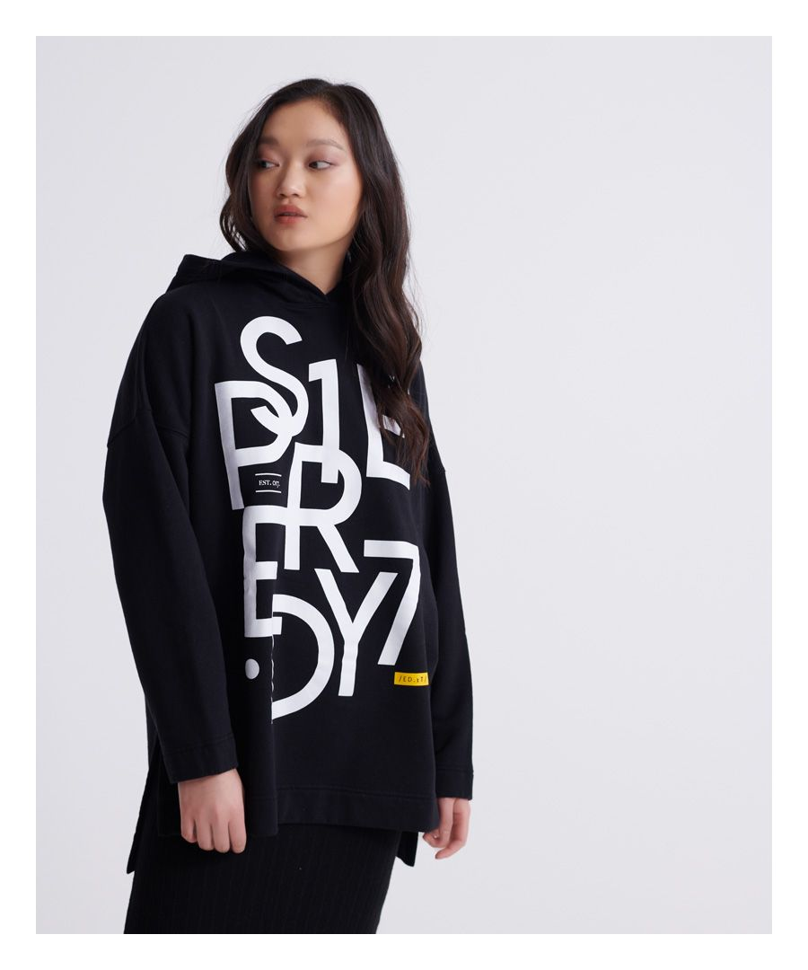 Image for Superdry Edit Oversized Graphic Hoodie