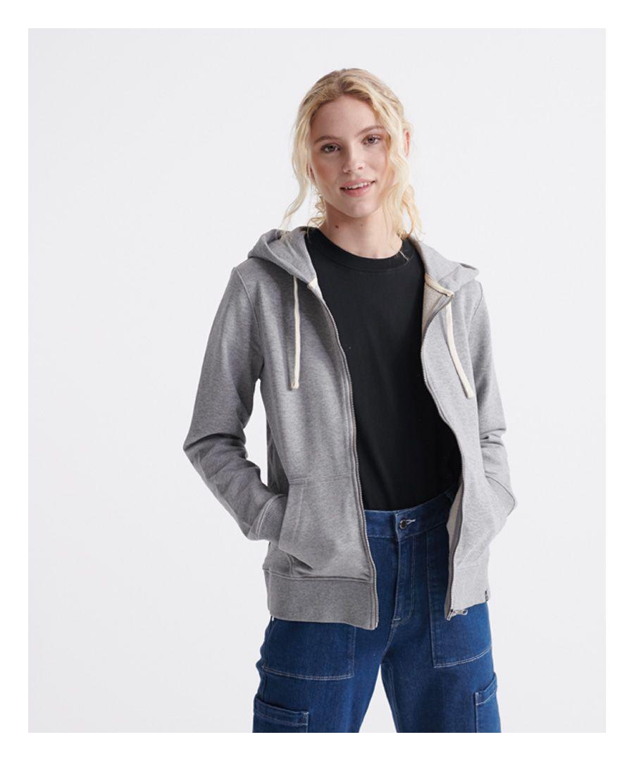 Image for Superdry Organic Cotton Standard Label Loopback Zip Hoodie