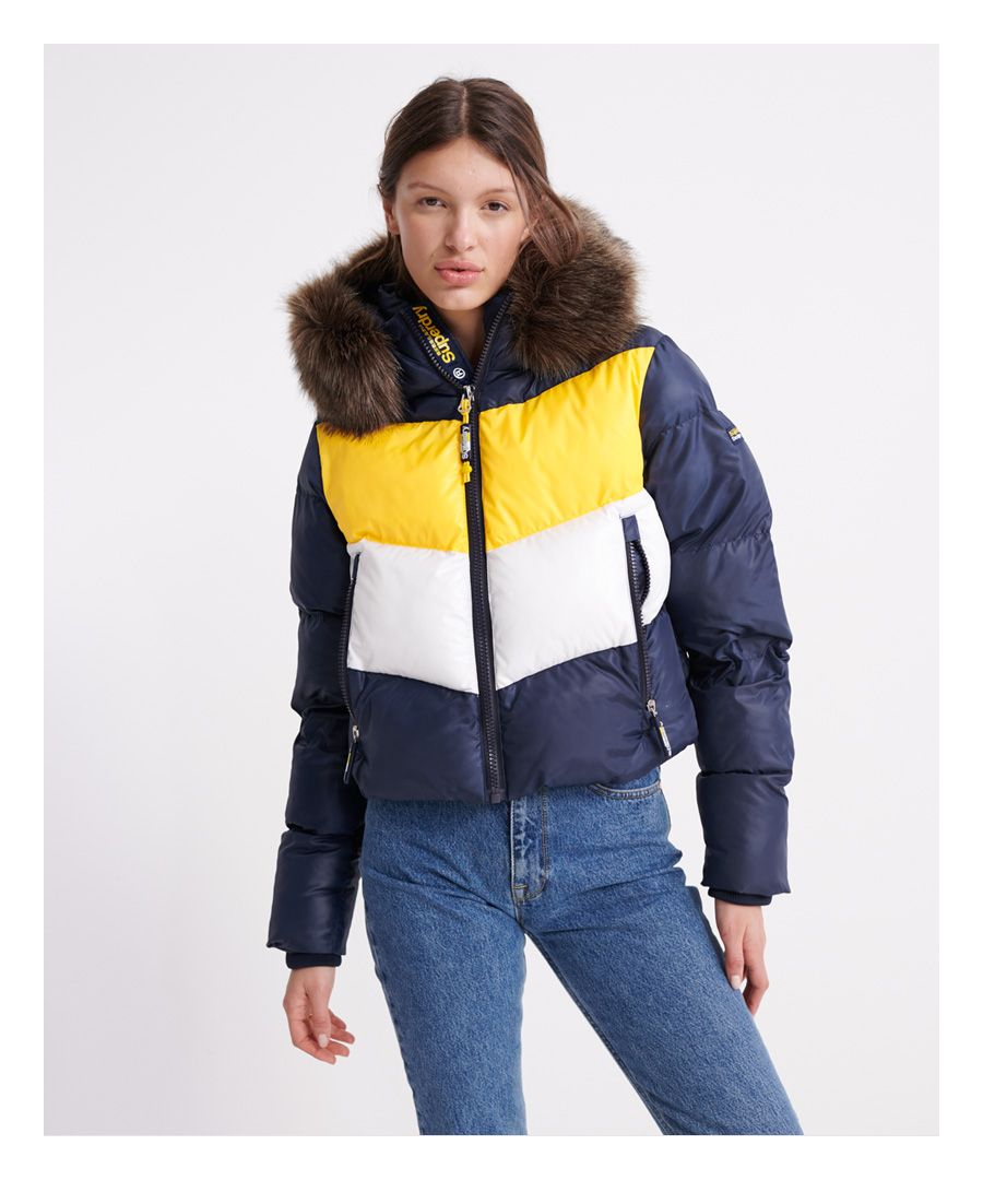 Image for Superdry Sport Puffer Retro Crop Jacket