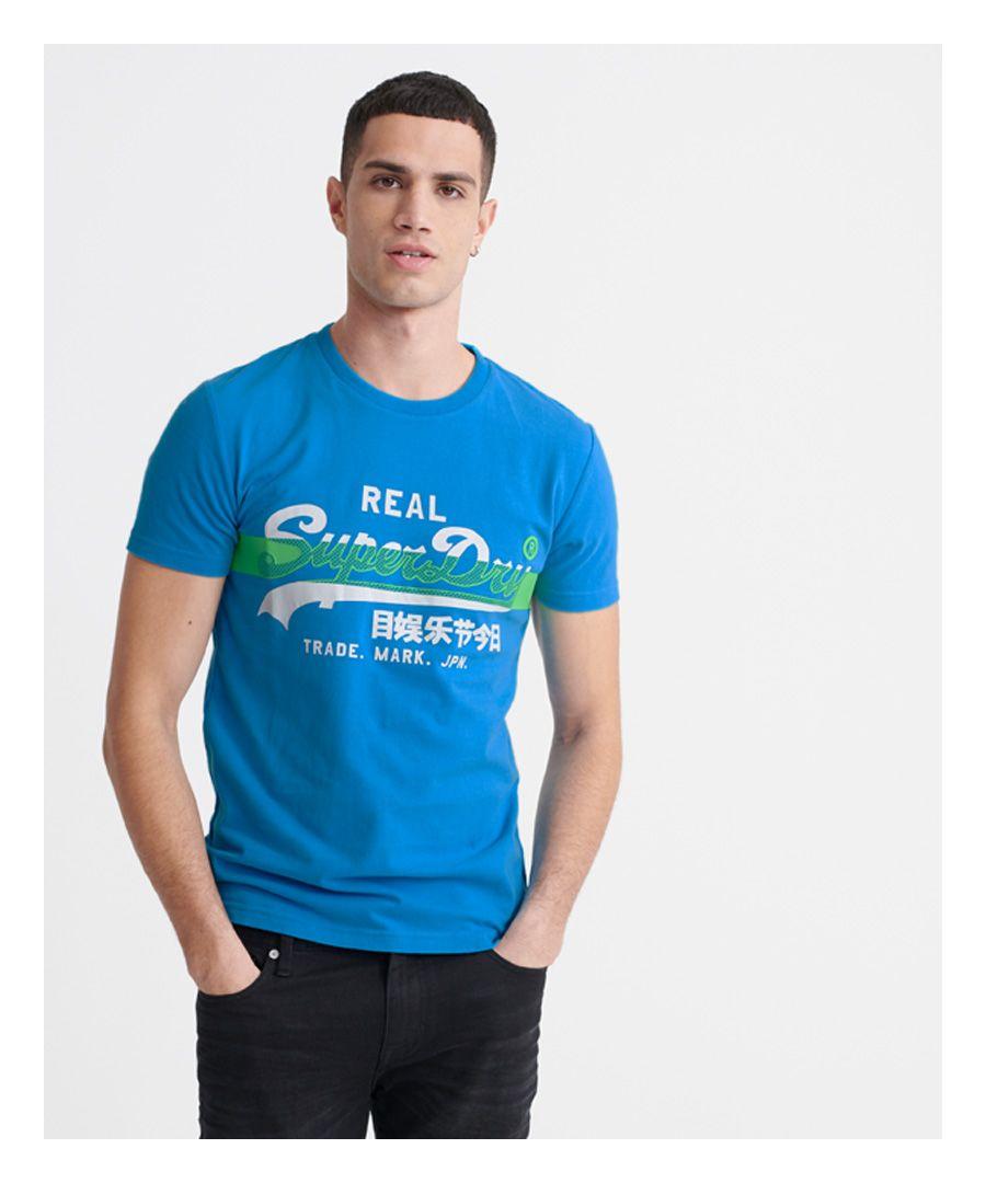 Image for Superdry Vintage Logo Cross Hatch T-shirt