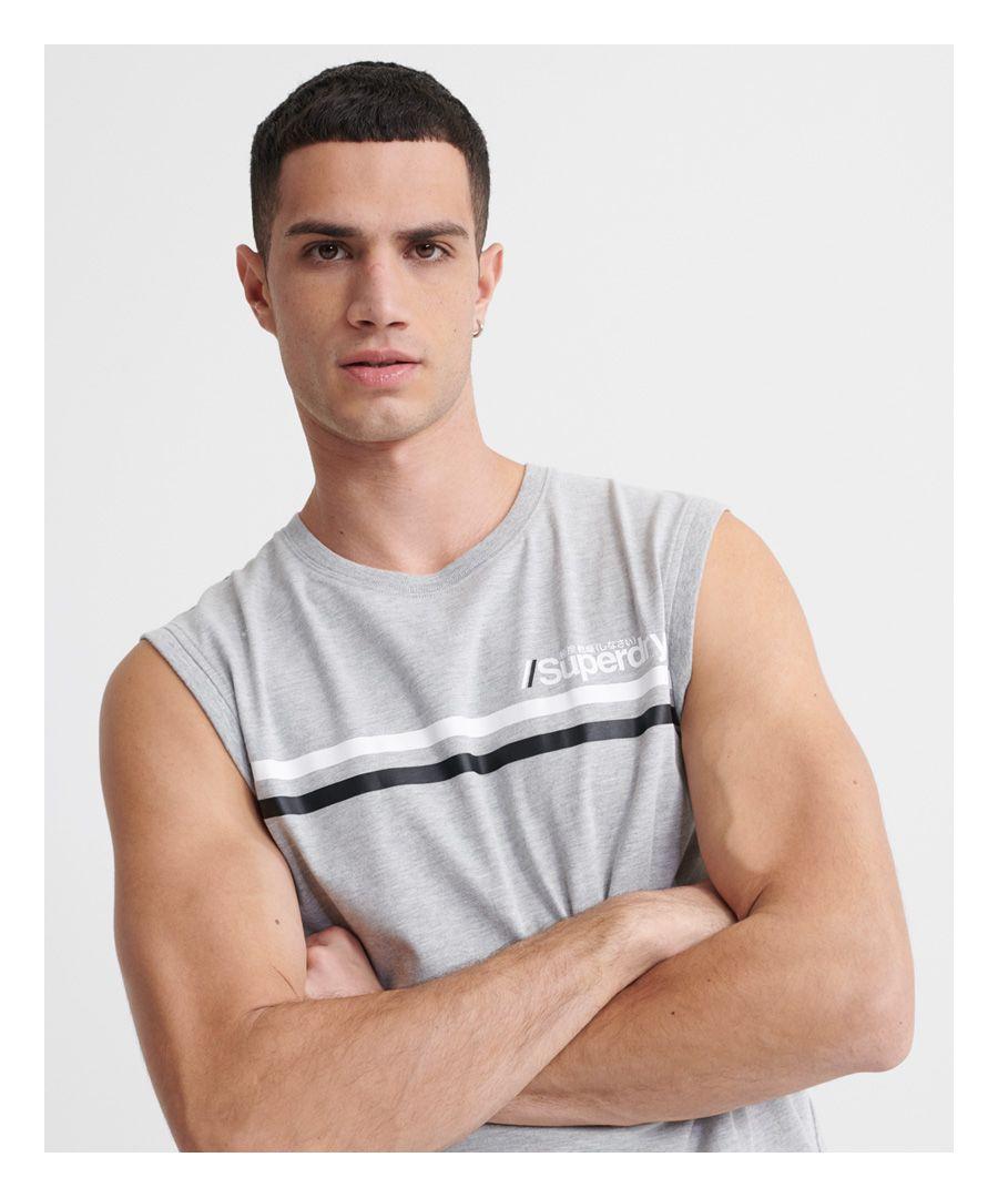 Image for Superdry Core Logo Sport Stripe Vest
