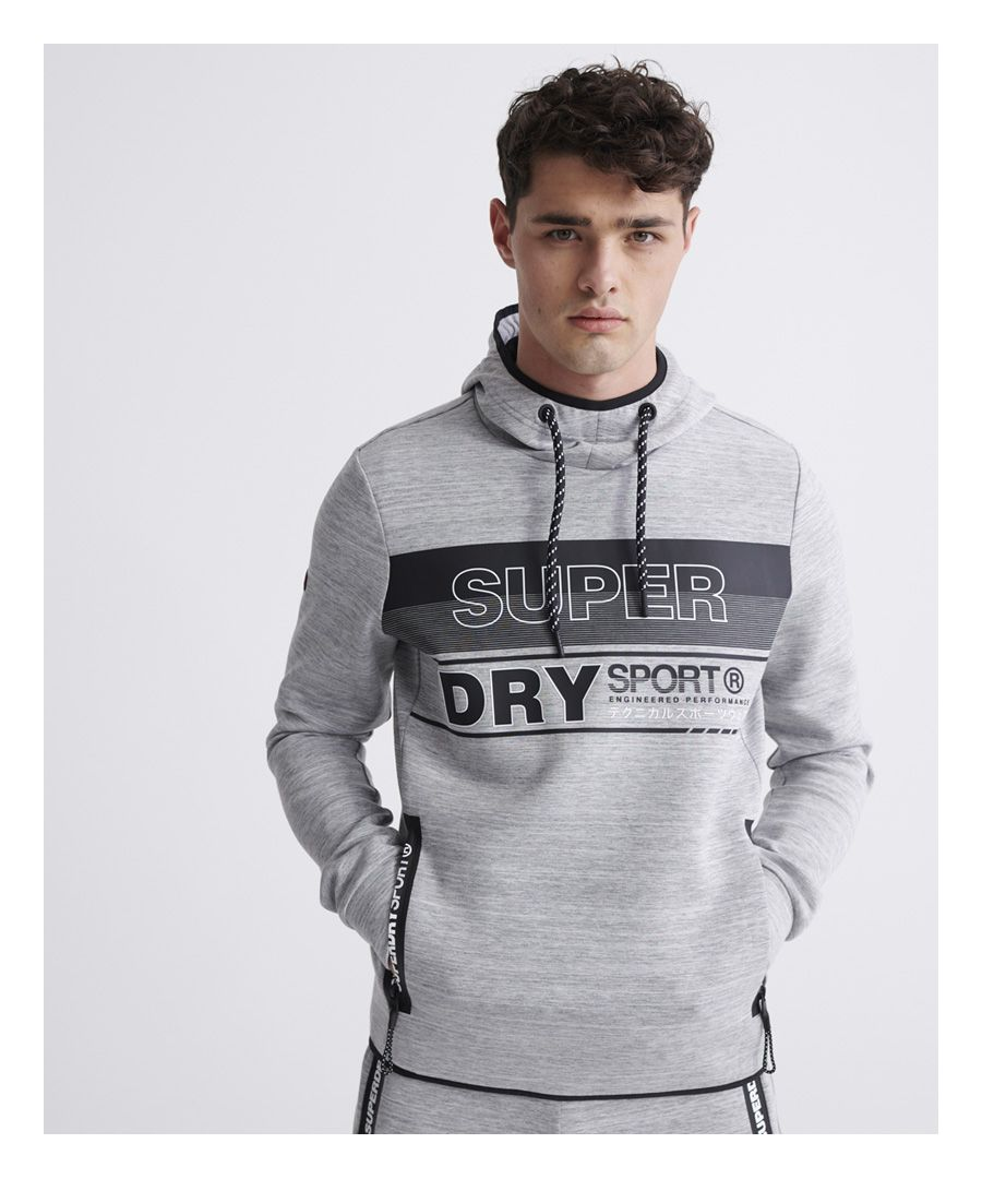 Image for Superdry Gymtech Graphic Overhead Hoodie