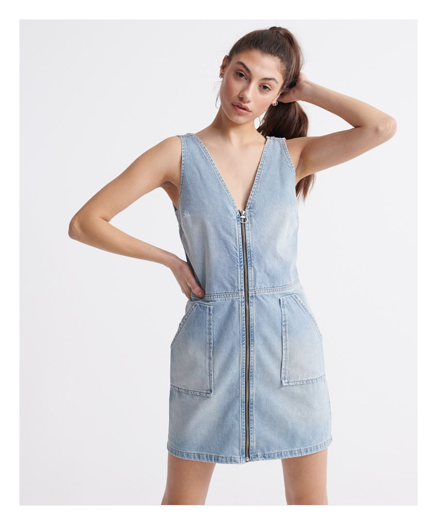 Image for Superdry Denim Zipthrough Dress