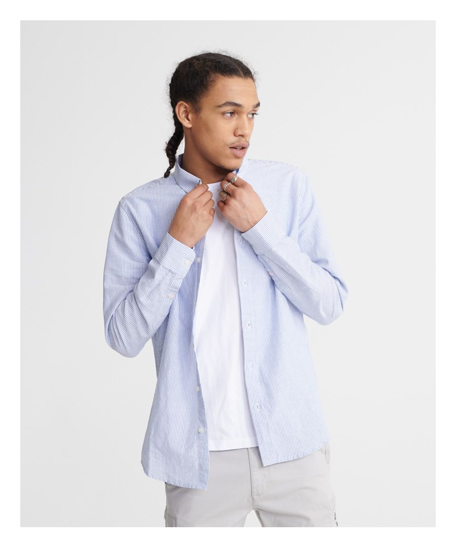 Image for Superdry Edit Linen Button Down Shirt