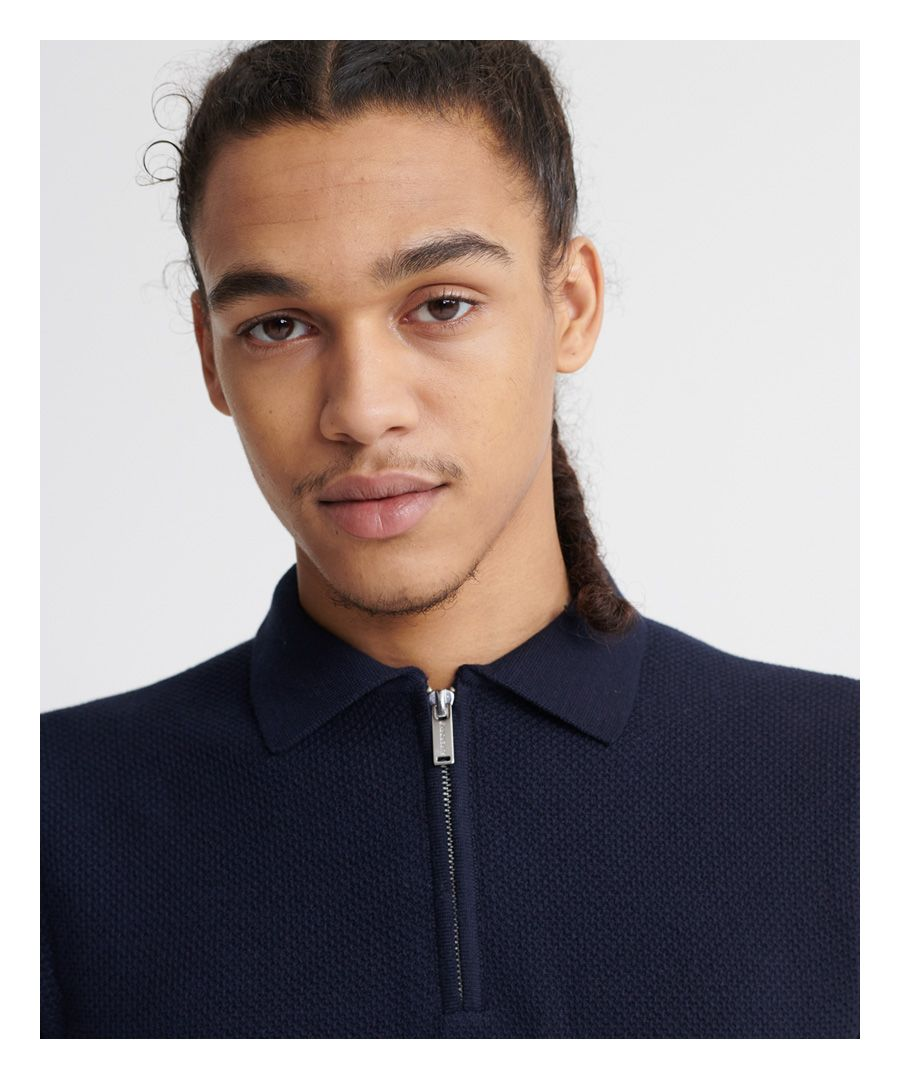 Image for Superdry Edit Short Sleeved Knitted Polo Shirt