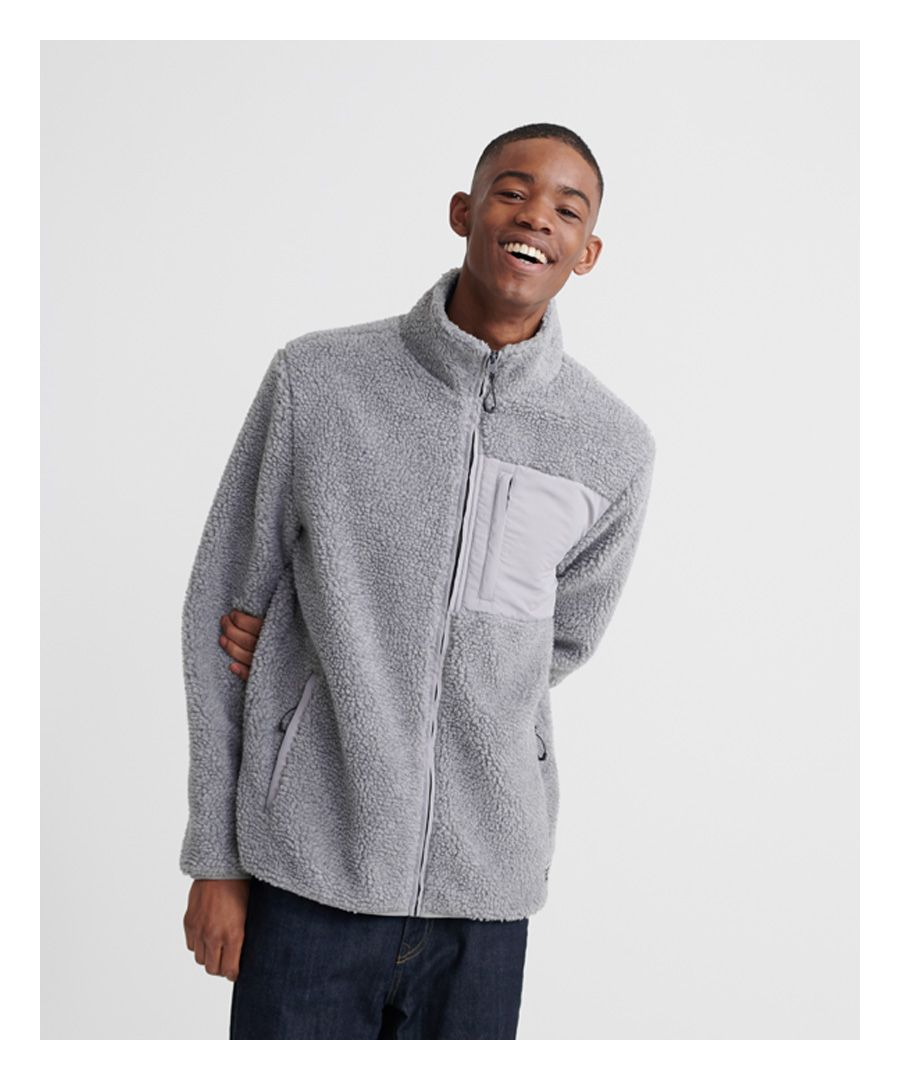 Image for Superdry City Sherpa Zip Through Track Top